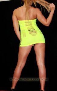 Hot Blond Escort back side shot